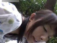 【無修正】ド淫乱な田舎のアラフォー素人主婦と山中でブルーシート敷いて青姦ハメ撮りセックス