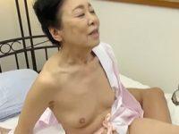 八十路なのに色白で綺麗な体を堪能…!貧乳で高齢のAV女優が引退セックスでたっぷり中出し