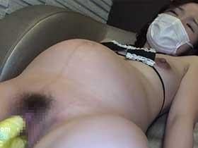 【無修正】ドMな妊婦さんのスケベマンコをバイブで掻き回して調教していくぅ!
